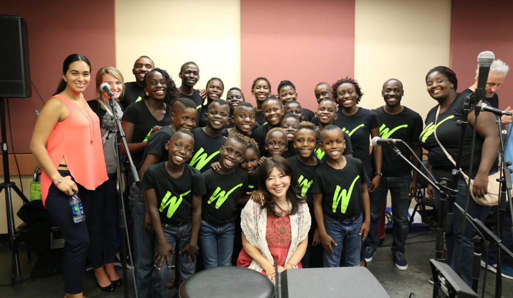 With the Watoto Children's Choir from Uganda